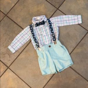 Starting out Easter plaid fish baby boys suit